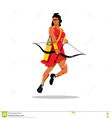 archer cartoon vector archer cartoon illustration stock vector image