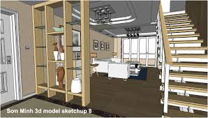 sketchup texture sketchup 3d model living room 22