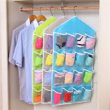Over Door Closet Organizer - 16 pockets hanging wardrobe storage bag clear over door wall