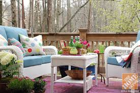 How To Decorate Decks And Patios Deck Decorating Ideas By Whitney Of Curtis Casa The Home Depot Blog