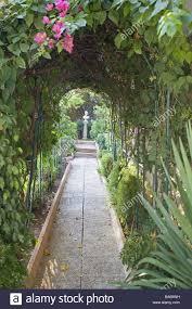 garden arcade park walk passageway round bow way framework