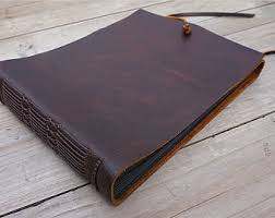 Leather Bound Wedding Album Custom Leather Album Scrapbook Album Handmade Wedding Book