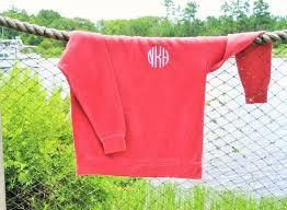 Comfort Colors T Shirts Wholesale Monogrammed Comfort Colors Sweatshirt