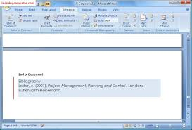 microsoft word 2007 references tab tutorial learn ms word it
