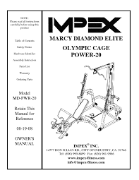 marcy diamond elite olympic bench instructions bench decoration