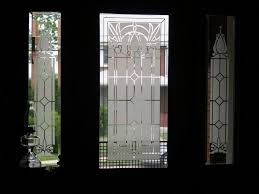 Etched Glass Exterior Doors Etched Front Door Glass Home Interior Design