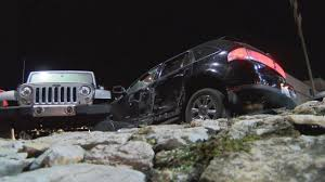 crashed jeep liberty woman crashes in car lot after shots fired into her car abc 36 news