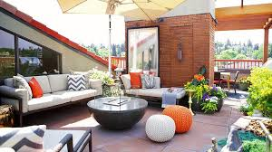 Orange Patio Cushions by Wicker Sectional With Gray Cushions And Orange Pillows