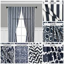 Black And White Striped Curtain Panels Navy And White Chevron Curtains Curtains Gallery
