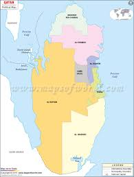 New York Political Map by Political Map Of Qatar Qatar Municipalities Map