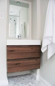 Dark Gray Bathroom Vanity by 110 Best White Bathroom With Wood Or Dark Vanity Images On