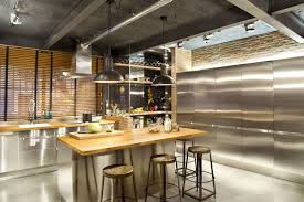 small loft kitchen ideas tags awesome industrial kitchen setup