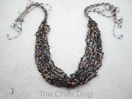 crochet necklace black images Crochet pattern ladder yarn necklace the chilly dog jpg