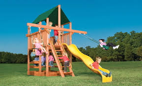 Swing Sets For Small Backyard by Small Set 75h Playhouse Xl 5 U0027 With Double Swing Arm Garden