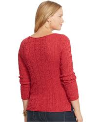 plus size cable knit sweater lyst by ralph plus size cable knit sweater in