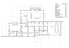one story floor plan modern single story house plans modern house modern single story