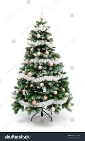 artificial christmas tree isolated on white stock photo 65254666
