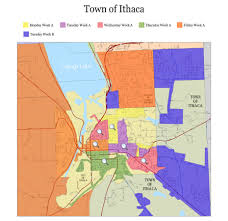 Ithaca Map Tompkins County Solid Waste