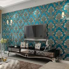 Wallpaper Livingroom by Blue Living Room Wallpaper U2013 Modern House