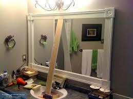 bathroom mirror frame ideas diy mirror frame bathroom diy removable bathroom mirror frame
