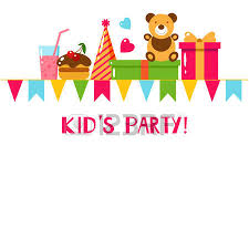 happy birthday template card flat vector illustration kids