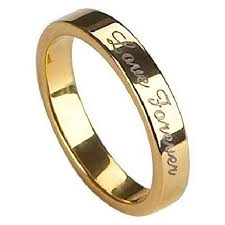 wedding gold rings mens engraved tungsten wedding ring gold finish