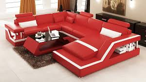 Modern Leather Sectional Sofa Red Leather Sectional Sofa Roselawnlutheran