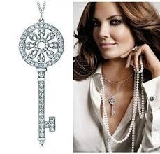 key shaped necklace images Classic key pendant t brand micro synthetic diamonds pendant jpg