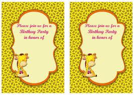 caillou birthday invitations giraffe birthday invitations u2013 birthday printable