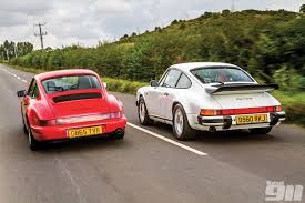 porsche carrera back porsche 911 3 2 carrera vs porsche 964 carrera 2 total 911