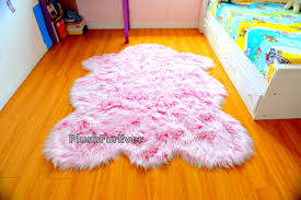 Girls Pink Rug It U0027s A Rug Baby Nursery Rug Pink White Faux Fur
