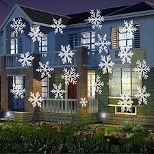 lights snowflakes projector light outdoor indoor moving