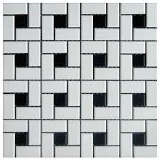 floor porcelain mosaics pinwheel black white 12 x 12 adex usa
