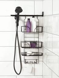 make a space shower caddy handheld shower heads bath pinterest make a space shower caddy handheld shower heads