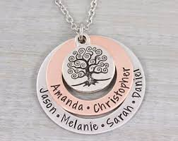 personalized family tree necklace family tree necklace etsy