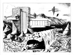 fallingwater in perspective by crzisme on deviantart