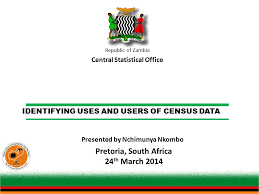central statistical bureau identifying uses and users of census data republic of zambia central