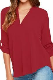 secret blouses secret womens v neck blouses solid casual cuffed