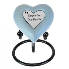 heart urn forever baby blue heart urn in the light urns
