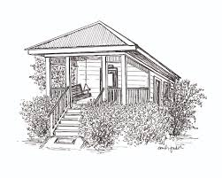 custom pen and ink drawing of a house in fairhope al pen and custom pen and ink drawing of a house in fairhope al