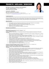 sample resume for experienced marketing professional sample resume for fresh graduate in business administration template sample resume for business administration major in marketing