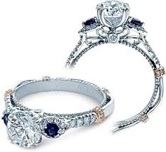 sapphire and engagement rings verragio and sapphire engagement ring cl dl128