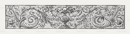 vignette wood engraving published in 1882 stock vector
