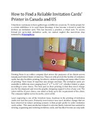 Invitation Card Printers How To Find A Reliable Invitation Cards U0027 Printer In Canada And Us