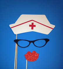 photo booth props nurse hat photo booth 3 piece set