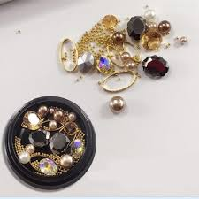 1 box decorative big pearl accessories mixed style nail
