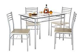 Silver Dining Tables Vecelo Dining Table With 4 Chairs Silver Table