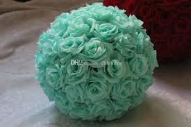 Cheap Flowers For Wedding 8 Inch Wedding Silk Pomander Kissing Ball Flower Ball Decorate