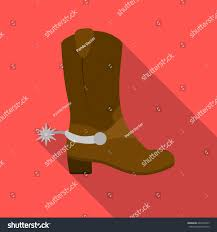 s boots usa cowboys boots icon flate style usa stock vector 624672947