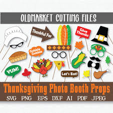 thanksgiving photo booth props and decorations svg cut file